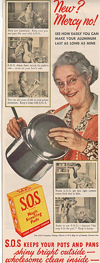 S.O.S. magic scouring pads ad 1942 (Image1)
