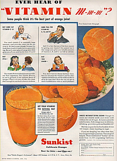 Sunkist california oranges ad 1942 (Image1)