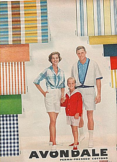Avondale perma pressed cottons ad 1958 (Image1)
