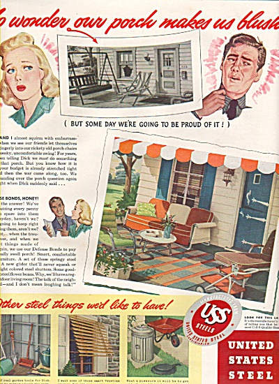 1942 United States Steel Print AD - Outdoor Products (Image1)