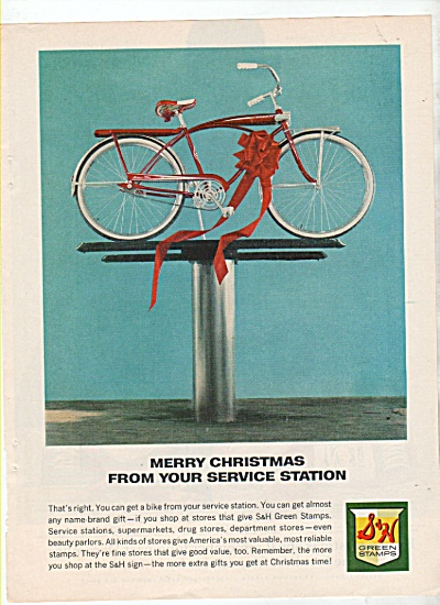 1942 S & H Green Stamps Print AD MURRAY BICYCLE  (Image1)