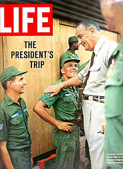 1966 LIFE Magazine COVER - President Johnson in Vietnam (Image1)