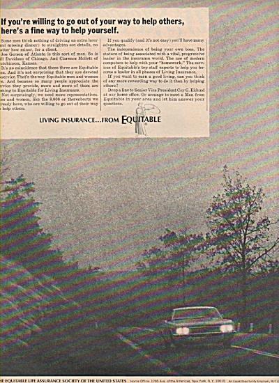 1966 Equitable Life Assurance Society PRINT AD (Image1)