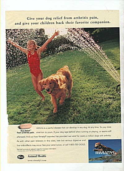 Rimadyl Carprofen for animals ad 1999 (Image1)
