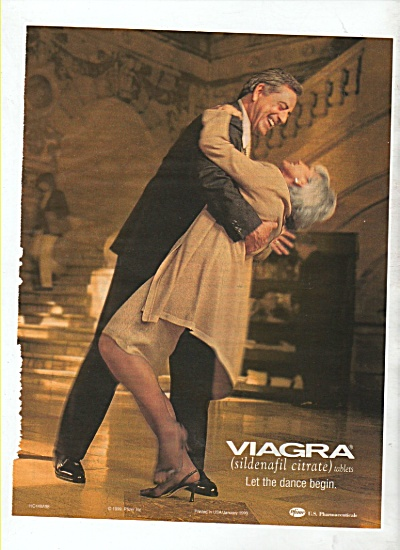 1999 Viagra Print AD - LET THE DANCE BEGIN Pfizer (Image1)