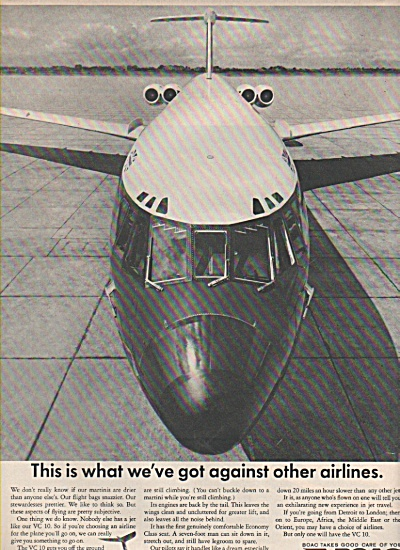 1966 Boac Airlines Print Ad - Nobody Else Has Jet