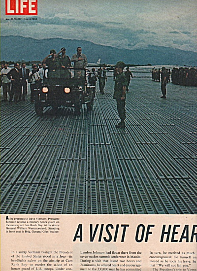 PRESIDENT JOHNSON's visit to Vietnam 1966 (Image1)