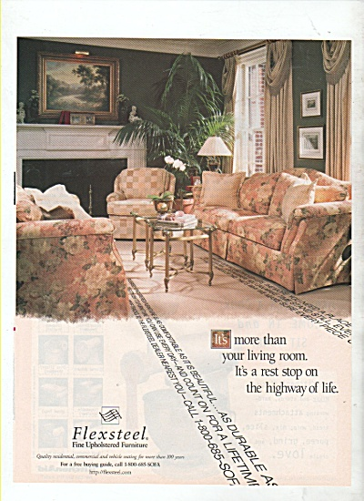 Flexsteel fine upholstered furniture ad 1999 (Image1)