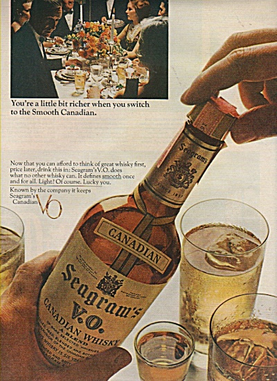 Seagrams V. O. Canadian whisky ad  1966 (Image1)
