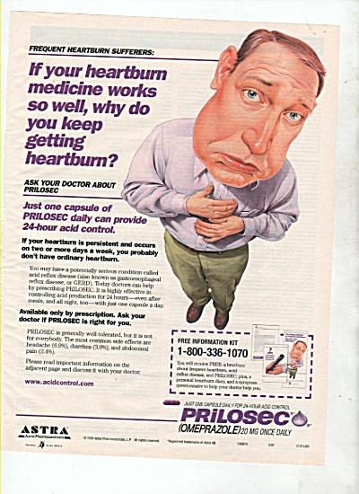 Prilosec (Omeprazole) pills ad 1999 (Image1)