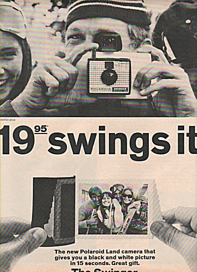 1966 The Swinger Polaroid Land Camera Print Ad