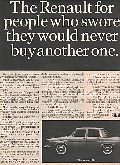 Renault 10 auto ad 1966 (Image1)