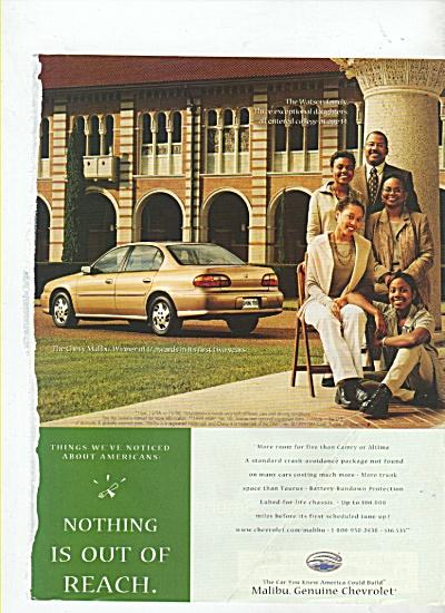 Chevrolet Malibu ad 1999 (Image1)