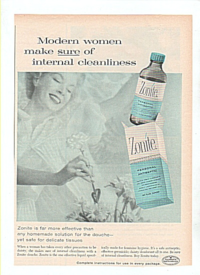 Zonite personal antiseptic ad 1958 (Image1)