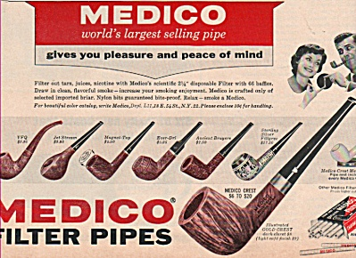 Medico filter pipes ad 1966 (Image1)