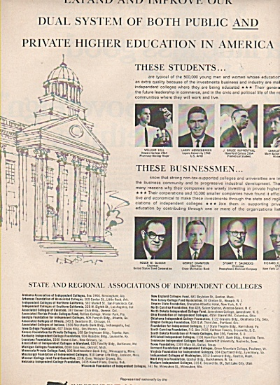 Independent college funds of America, Inc. ad 1966 (Image1)