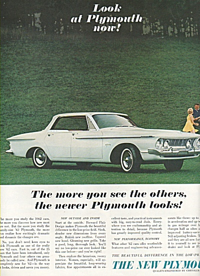 1962 Plymouth Automobile Car Print AD (Image1)