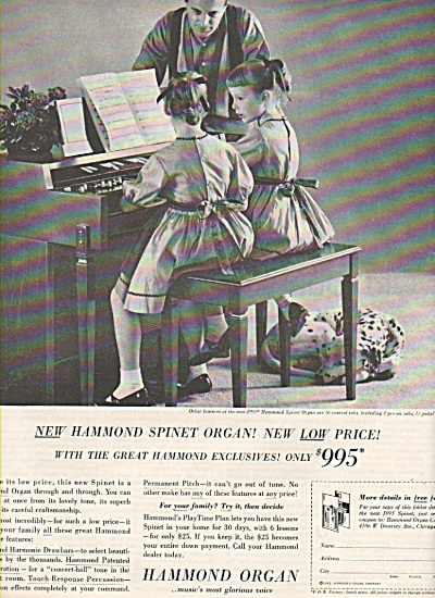 Hammond Organ ad 1962 SPINET ORGAN (Image1)