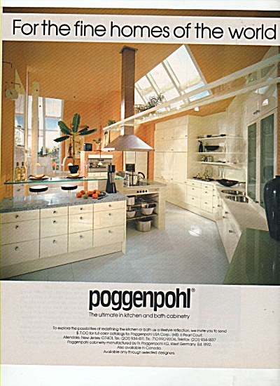 Poggenpohl cabinetry ad 1988 (Image1)