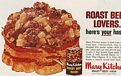 Mary Kitchen roast beef hash ad 1962 (Image1)