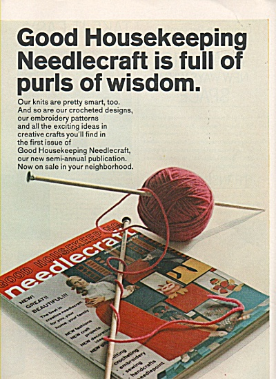 Good Housekeeping Needlecraft Magazine Ad 1968