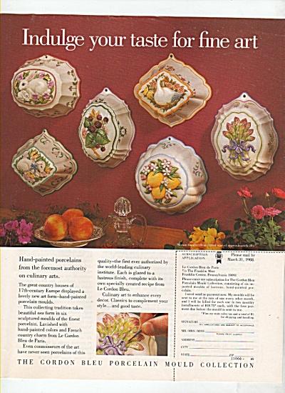 Cordon Bleu porcelain mould collection ad 1988 (Image1)