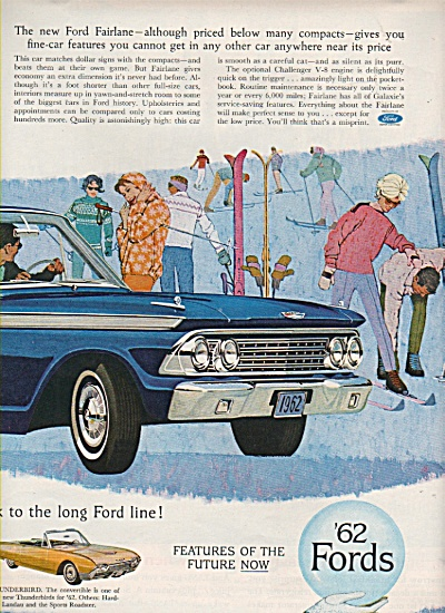 Ford Cars For 1962 Ad