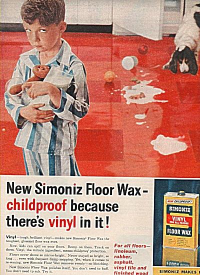 Simoniz vinyl floor wax ad 1958 (Image1)