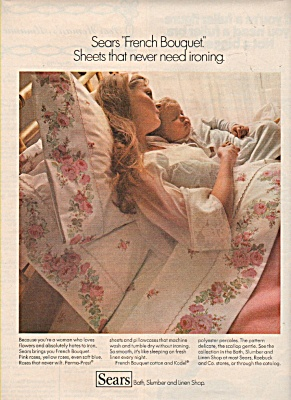 Sears Roebuck -French Bouquet sheets ad 1971 (Image1)