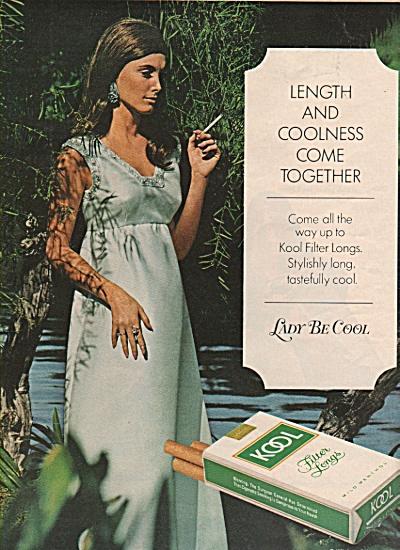 Kool filter longs cigarettes ad 1971 (Image1)