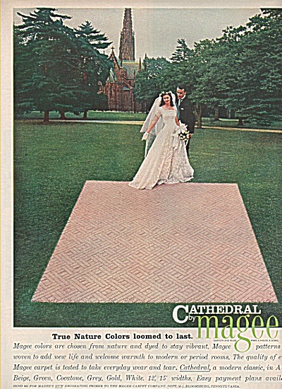 Magee carpets - Cathedral ad 1958 (Image1)