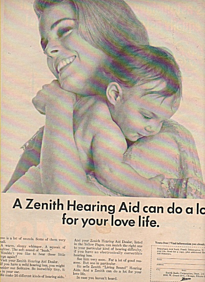 Zenith Hearing Aid Ad 1966