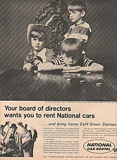 National car rental ad - 1966 (Image1)
