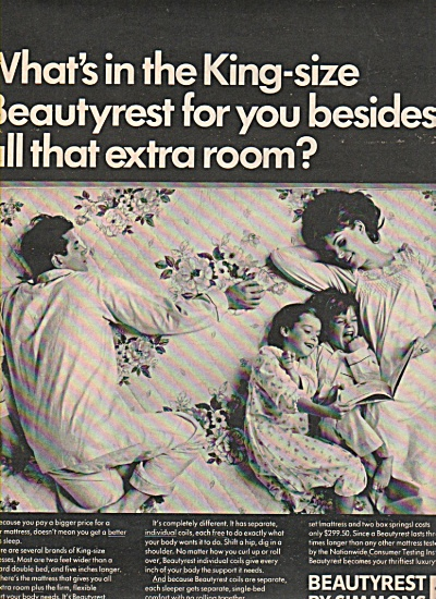 Beautyrest by Simmons ad 1966 (Image1)