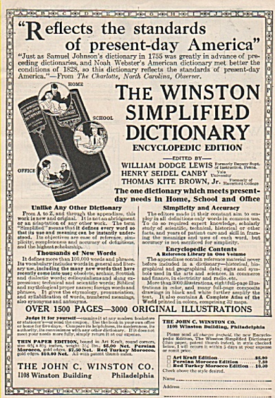 The Winston simplified dictioknary ad 1928 (Image1)