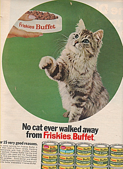Friskies buffet meals for cats ad 1971 (Image1)