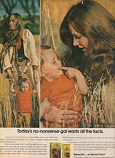 Miss Clairol  ad 1971 DOES SHE (Image1)