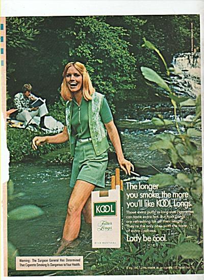 Kool filter  longs cigarettes. ad 1974 (Image1)