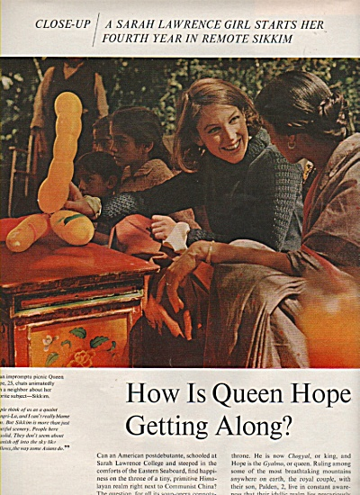 QUEEN HOPE  in Gangtok, Sikkem story 1966 (Image1)