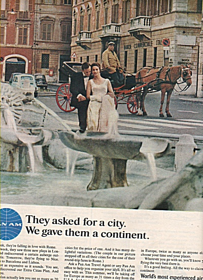 Pan Am Airlines Ad 1966