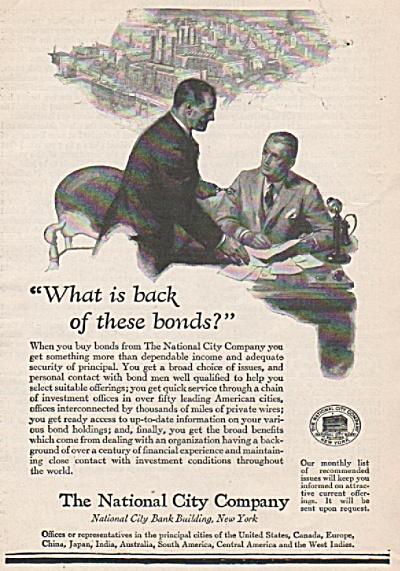 The National City Company ad 1928 (Image1)