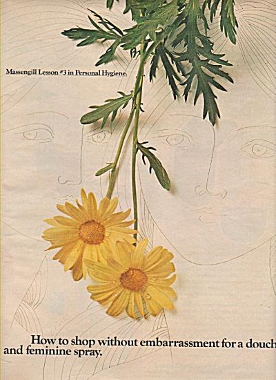 Massengill douche, deodorant spray ad 1971 (Image1)