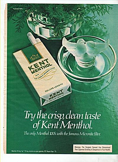 Kent Menthol cigarettes ad 1974 (Image1)