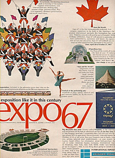 Expo 67 - Montreal ad 1966 (Image1)