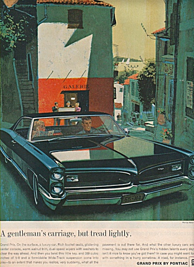 Grand Prix by Pontiac ad 1966 (Image1)