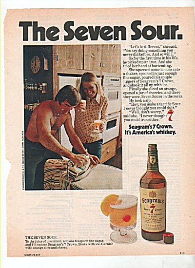 Seagram's Seven crown whisky ad 1974 (Image1)