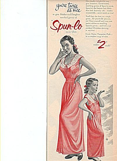 Spun-lo rayon fabric ad 1953 (Image1)