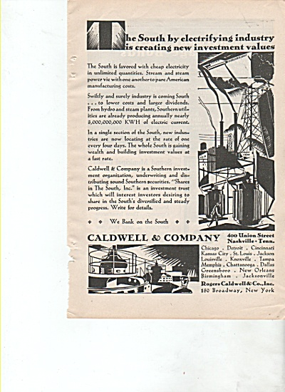 Caldwell & Company.  ad 1928 (Image1)