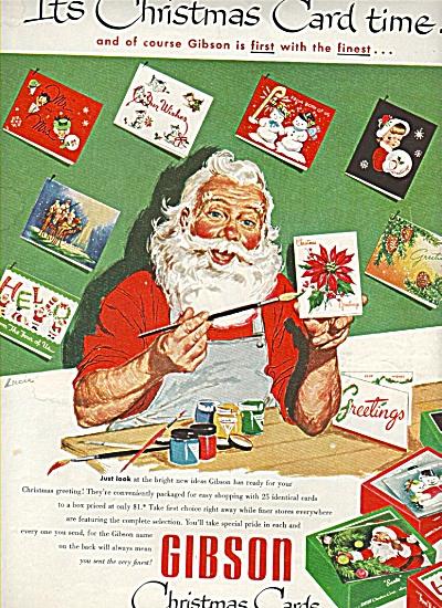 Gibson Christmas cards ad 1953 (Image1)