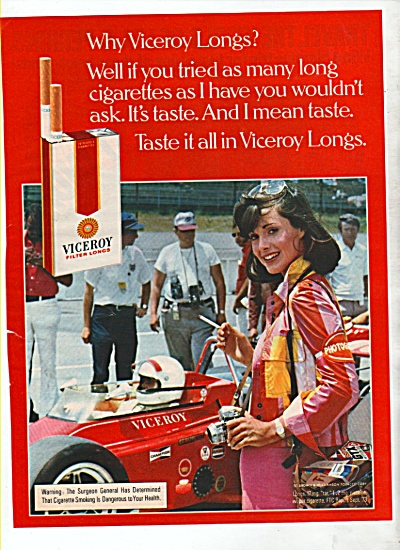 Viceroy filter longs cigarettes ad (Image1)
